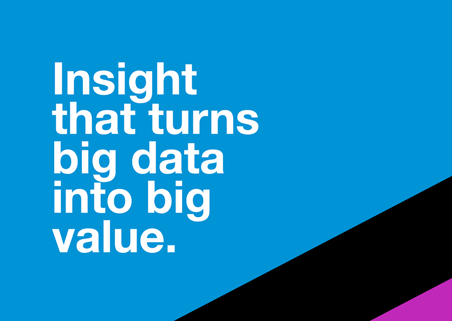 Text: Insight that turns big data into big value
