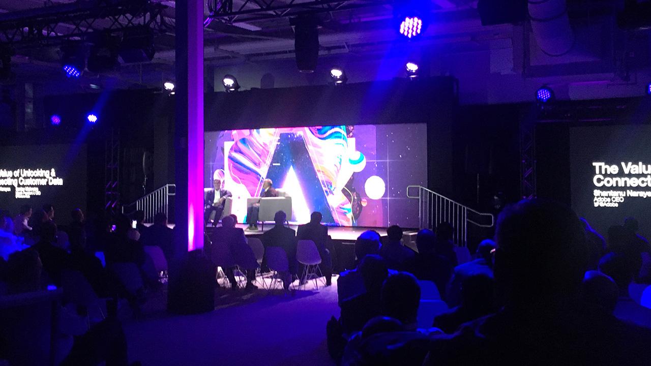 Video presentation in darkened venue